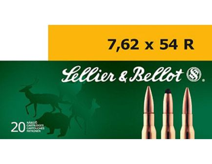 Sellier & Bellot 174 gr Hollow Point Boat Tail 7.62x54mmR Ammo