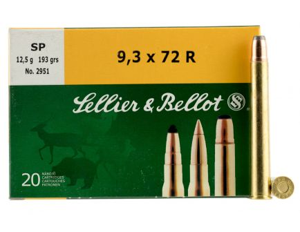 Sellier & Bellot 193 gr Semi-Jacketed Soft Point 9.3x72mmR Ammo