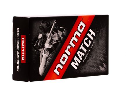 Norma Ammunition 130 gr Match Hybrid Target 6.5 Creedmoor Ammo HPBT, 20/box - 10166312