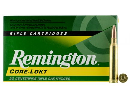 Remington Core-Lokt 175 gr Pointed Soft Point 7mm Rem Mag Ammo, 20/box - R7MM3