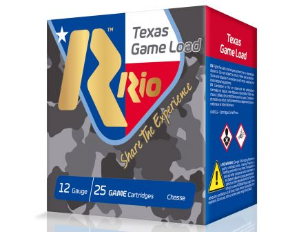 "RIO Top Game Texas Load Standard Velocity 2.75"" 12 Gauge Ammo 7-1/2, 250 Rounds - TG3675TX"