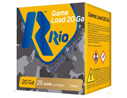 "RIO Game Load Field Load 2.75"" 20 Gauge Ammo 8, 250 Rounds - RC208"