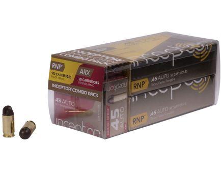Inceptor Sport & Carry 118, 135 gr ARX/RNP .45 Auto Ammo, 120/box - 45RNPARX