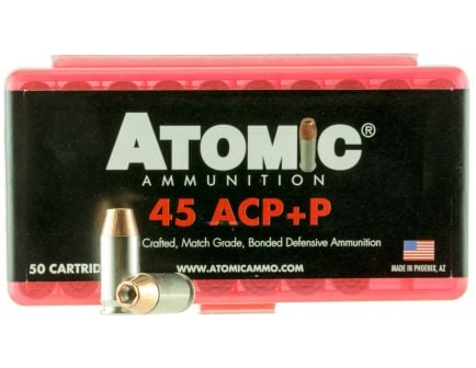 Atomic Ammunition 185 gr Bonded Match Hollow Point .45 ACP +P Ammo, 50/box - 00412