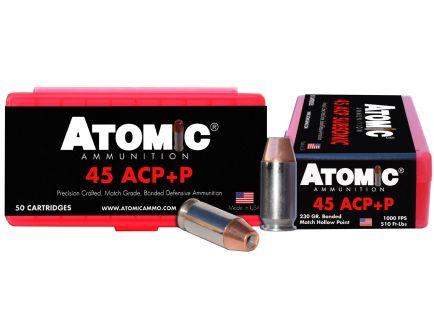 Atomic Ammunition 230 gr Bonded Match Hollow Point .45 ACP +P Ammo, 50/box - 00433