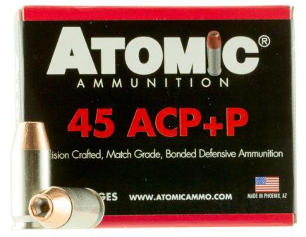 Atomic Ammunition 185 gr Bonded Match Hollow Point .45 ACP +P Ammo, 20/box - 00458