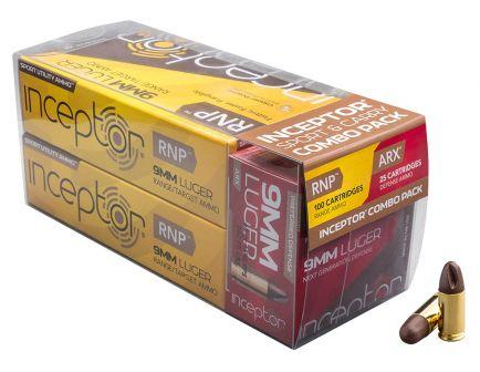 Inceptor Sport & Carry 65 gr ARX/RNP 9mm Ammo, 125/box - 9RNPARX