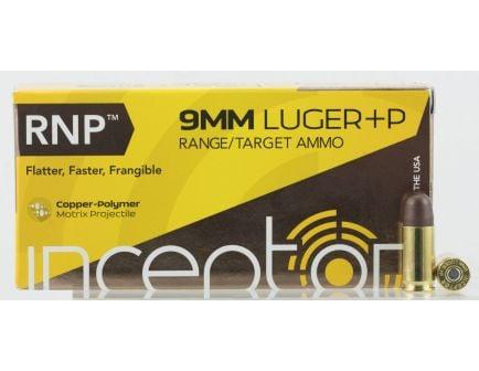 Inceptor Sport Utility 65 gr RNP 9mm +P Ammo, 50/box - 9RNPBRLUGP50