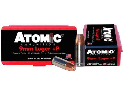 Atomic Ammunition 124 gr Bonded Match Hollow Point 9mm +P Ammo, 20/box - 00454