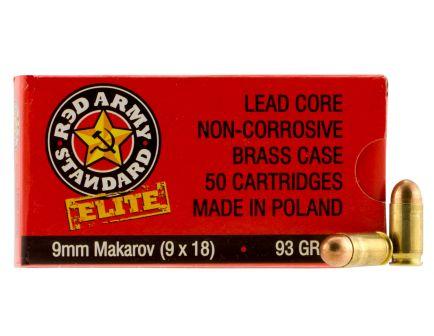 Century Arms Red Army Standard 93 gr Full Metal Jacket 9x18mm Makarov Ammo, 50/box - AM2017B