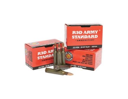 Century Arms Red Army Standard 56 gr Full Metal Jacket Boat Tail .223 Rem Ammo, 20/box - AM2424