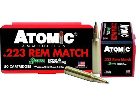 Atomic Ammunition Match Tactical Law Enforcement 77 gr Tipped MatchKing .223 Rem/5.56 Ammo, 50/box - 452