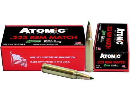 Atomic Ammunition Match Tactical Law Enforcement 77 gr Tipped MatchKing .223 Rem/5.56 Ammo, 20/box - 459