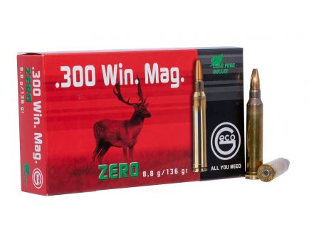 Geco Zero 136 gr Jacketed Hollow Point .300 Win Mag Ammo, 50/box - 288240020