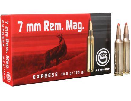 Geco Express 155 gr Express Tip 7mm Rem Mag Ammo, 20/box - 284340020