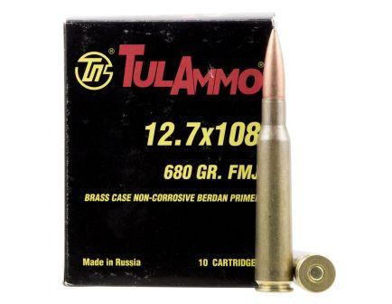 Tulammo 680 gr Full Metal Jacket 12.7x108mm Ammo, 10/box - TA127101