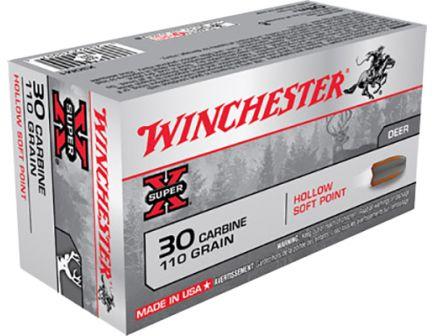 Winchester Super-X 110 gr HSP .30 Carbine Ammo, 50/box - X30M1