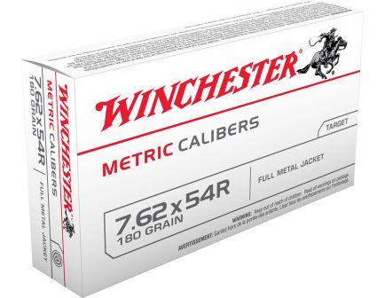 Winchester Ammunition USA Metric 180 gr Full Metal Jacket 7.62x54mmR Ammo, 20/box - MC76254R