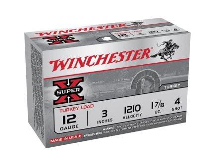 "Winchester Ammunition Super-X Turkey Load 3"" 12 Gauge Ammo 4, 10/box - X123MT4"