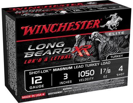 """Winchester Ammunition Long Beard XR Shot-Lok Magnum 3"""" 12 Gauge Ammo 4, 10/box - STLB123M4"""
