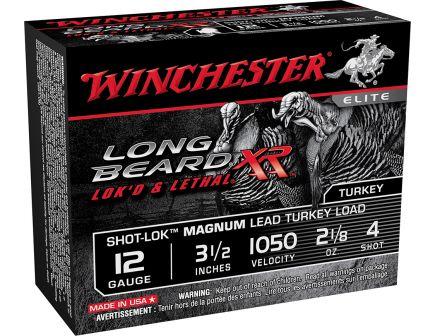"Winchester Ammunition Long Beard XR Shot-Lok Magnum 3.5"" 12 Gauge Ammo 4, 10/box - STLB12LM4"