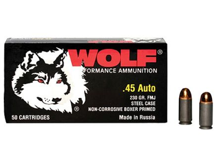Wolf Performance Military Classic 230 gr Full Metal Jacket .45 Auto Ammo, 50/box - MC45FMJ