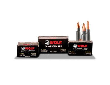Wolf Performance PolyFormance 230 gr Full Metal Jacket .45 Auto Ammo, 50/box - 45FMJ
