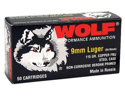 Wolf Performance PolyFormance 115 gr Full Metal Jacket 9mm Ammo, 50/box - 919FMJ
