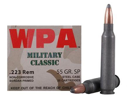 Wolf Performance Military Classic 55 gr Soft Point .223 Rem/5.56 Ammo, 20/box - MC22355SP