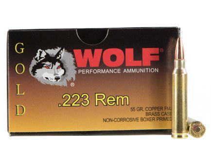 Wolf Performance Gold 55 gr Full Metal Jacket .223 Rem/5.56 Ammo, 20/box - G22355