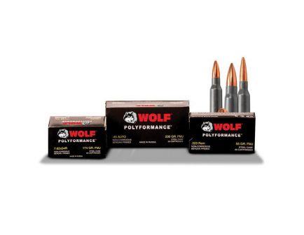 Wolf Performance PolyFormance 145 gr Full Metal Jacket .308 Win/7.62 Ammo, 20/box - 308FMJ
