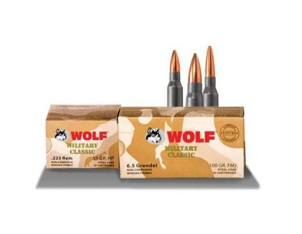 Wolf Performance Military Classic 168 gr Soft Point .308 Win/7.62 Ammo, 500/case - MC308SP168