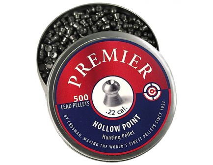 Crosman Premier .22 14.3 gr Hollow Point Pellet, 500/pack - LHP22