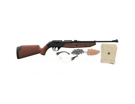 Crosman Pumpmaster .177 Bolt-Action Air Rifle Kit, Brown - 760BKT