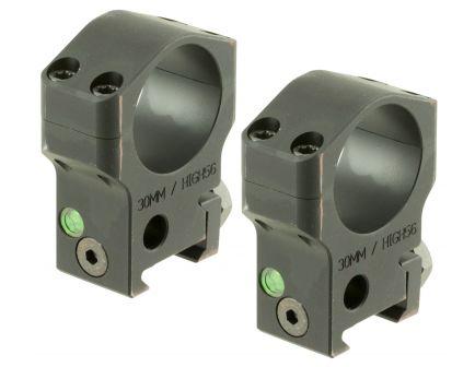 Accu-Tac 30mm 7075 Aluminum Alloy Scope Ring, Type III (Mil-Spec) Hard Anodized Flat Black - HSR-300