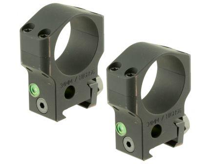 Accu-Tac 34mm 7075 Aluminum Alloy Scope Ring, Type III (Mil-Spec) Hard Anodized Flat Black - HSR-340