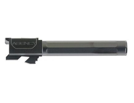 """Agency Arms Premier Line Glock 17 9mm 4.48"""" Match Grade Drop-in Fluted Barrel, Black DLC - PLG17FDLC"""