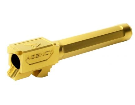 "Agency Arms Premier Line 9mm Glock 17 4.48"" Match Grade Drop-in Fluted Barrel, Titanium Nitride (Gold) - PLG17FTIN"