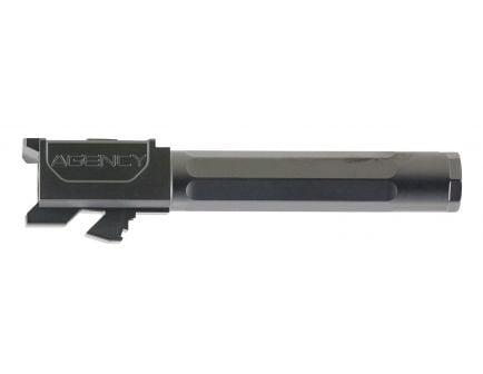 """Agency Arms Premier Line Glock 19 9mm 4.01"""" Match Grade Drop-in Fluted Barrel, Black DLC - PLG19FDLC"""