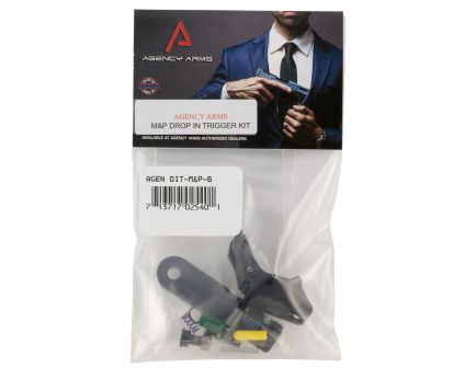Agency Arms Flat Face Drop-in Trigger for M&P Gen 1 Pistols, Black - DIT-M&P-B
