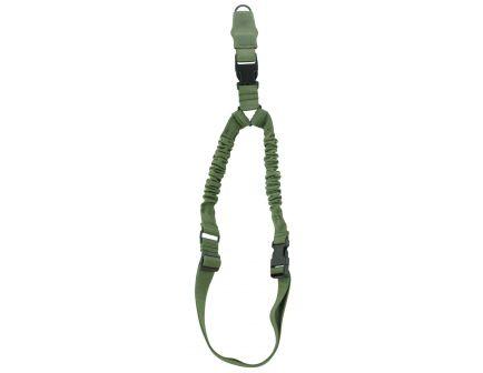 Aim Sports 1-Point Bungee Adjustable Heavy-Duty Sling w/ Steel Clip, Green - AOPS01G