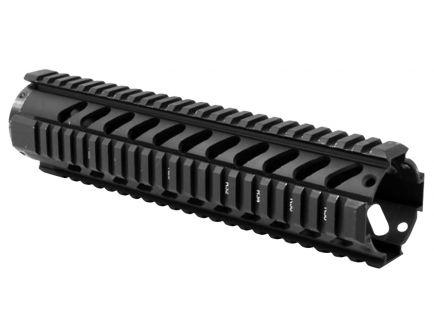 "Aim Sports 10"" Aluminum Free Floating Mid-Length Quad Rail, Anodized Black - MT061"