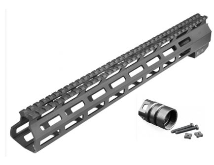 "Aim Sports M-LOK 13.5"" .308 AR/M4 High Profile Free Float Handguard, Black - MTM13H308"