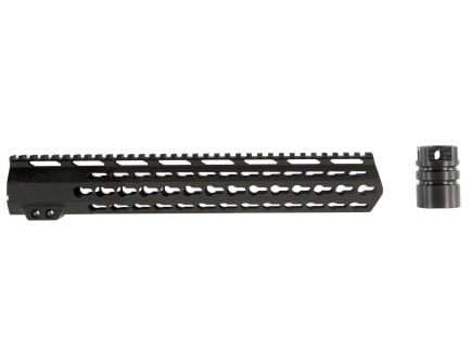 "Aim Sports Keymod 13.5"" .308 AR/M4 High Profile Free Float Handguard, Black - MTK13H308"