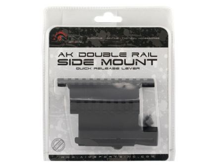 Aim Sports Double Side Picatinny Rail Mount w/ Quick Release Lever, Black - MK004S