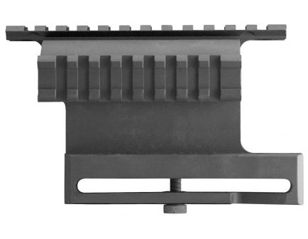 Aim Sports Aluminum Double Side Picatinny Rail Mount, Anodized Black - MK007