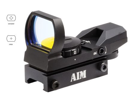 Aim Sports Classic Edition 1x34mm Reflex Sight, Illuminated 4 Pattern Red - RT4-01
