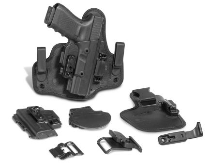 Alien Gear Holsters ShapeShift Right Hand S&W M&P Shield 45 Inside and Outside the Waistband Core Carry Pack/Modular Holster System, Black - SSHK0833RHR1
