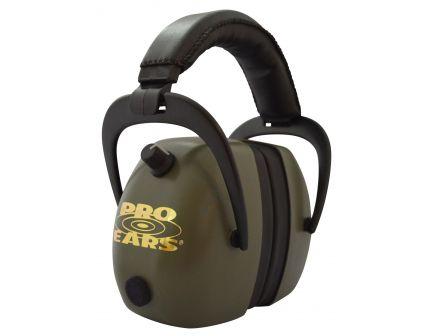 Pro Ears Gold II 30 dB Over the Ear Electronic Earmuff, Green - PEG2RMG