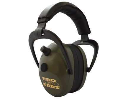 Pro Ears Gold II 26 dB Over the Ear Electronic Earmuff, Green - PEG2SMG